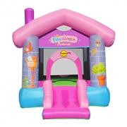 Happy Hop Párty dom pre princezné, skákací hrad so šmýkačkou