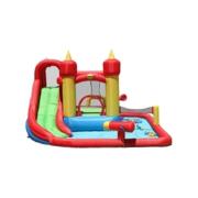 Happy Hop Funland vodný zábavný aqua s bazénom, šmykľavkou a loptičky