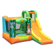 Happy Hop Džungľa skákací hrad so šmýkačkou a zvieratkami